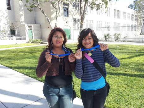 EggXPress Champs Lesie Gomez and Jessica Chavez - Pre Mesa Day @USC 3/10/2012